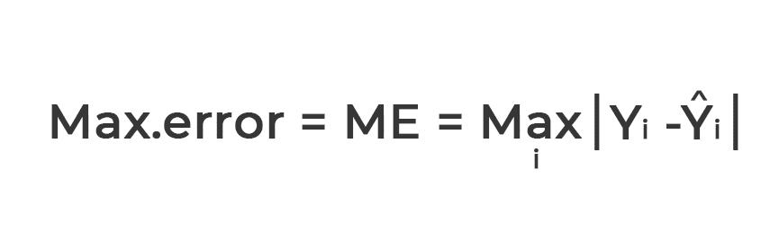 calcul of the max error