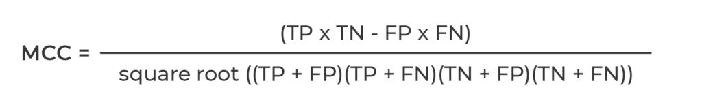formula to mesure MCC