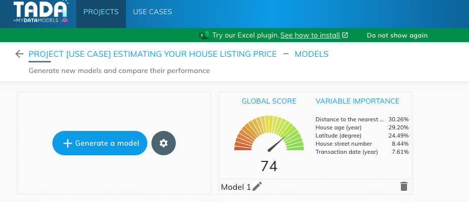 Results into TADA
